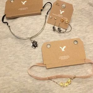 Rose Choker and earring bundle